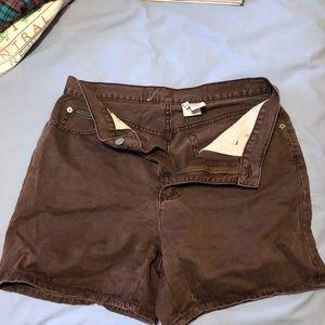 Calvin Klein brown high waisted shorts